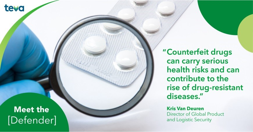 Counterfeit drugs can carry serious health risks and can contribute to the rise of drug-resistant diseases